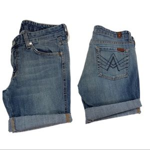 7 For All Mankind sparkly A pocket cut off shorts